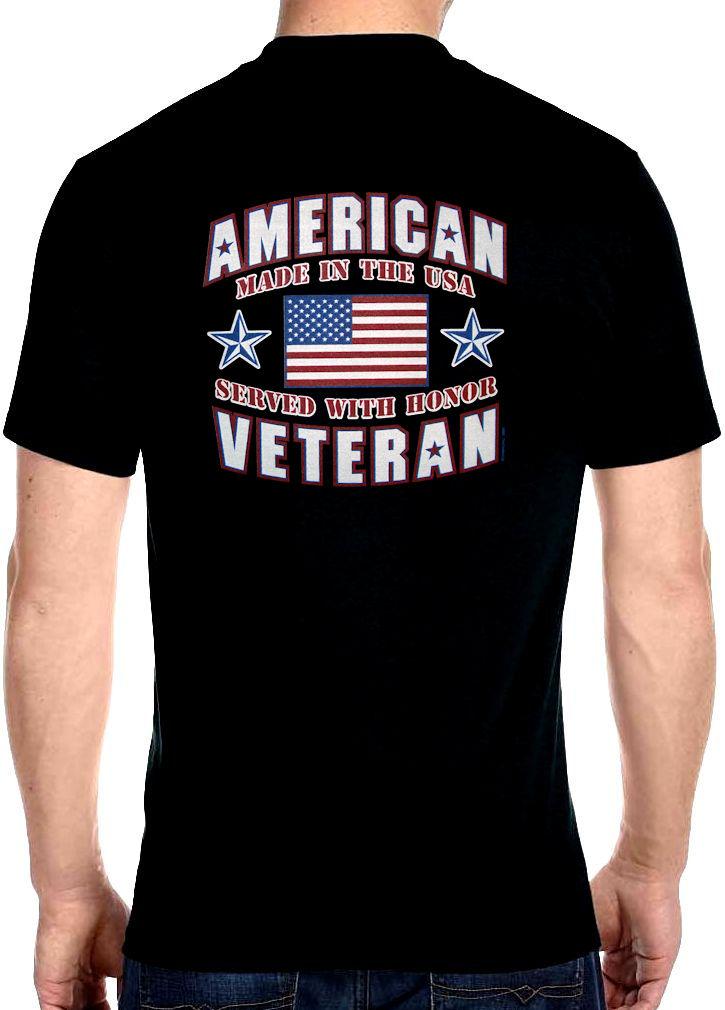 a9705e8a8c7 Mens Hanes Patriotic American Veteran USA Flag Biker T-Shirt Design ...