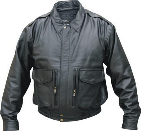 mens cowhide bomber jacket