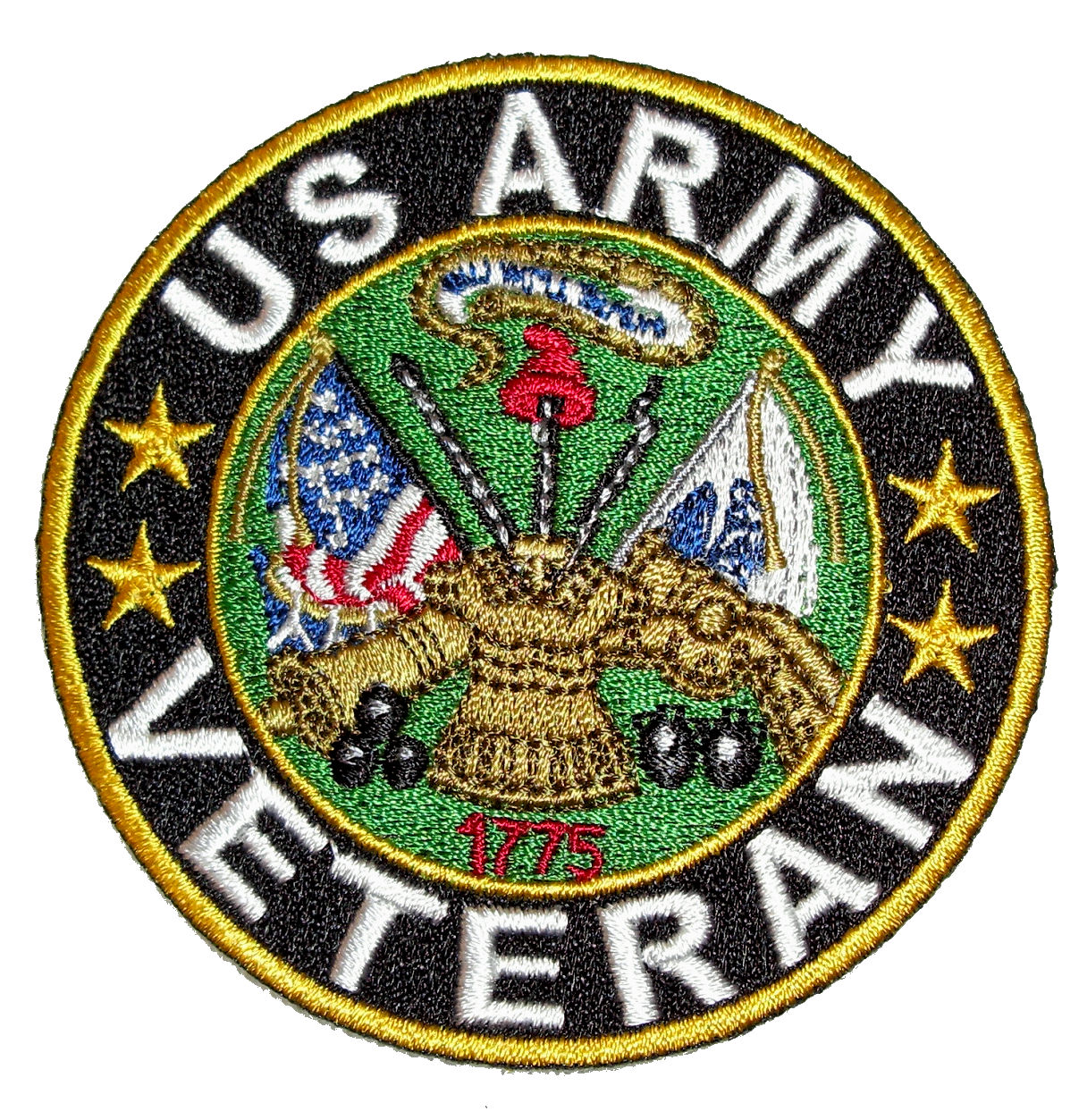 Patriotic Us Army Veteran Embroidered Biker Patch