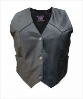 ladies lambskin leather vest
