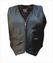 ladies lambskin leather zipper vest