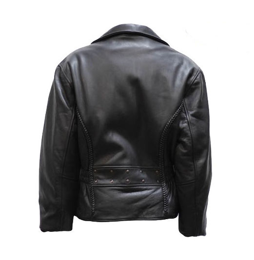 ladies classic top grain cowhide leather motorcycle jacket