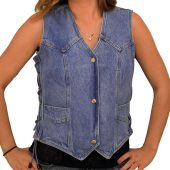 Ladies Denim Vest