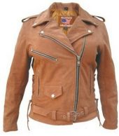 womens brown buffalo leather jacket