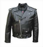 mens split cowhide leather jacket