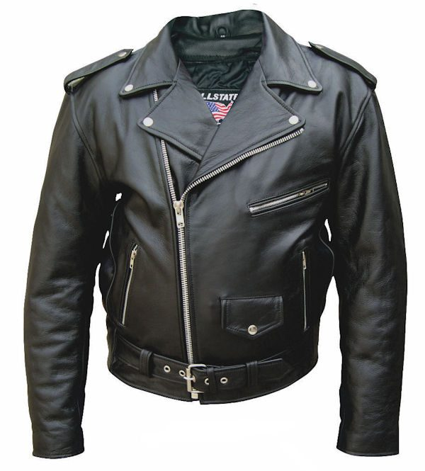 mens leather jacket with texas flag front