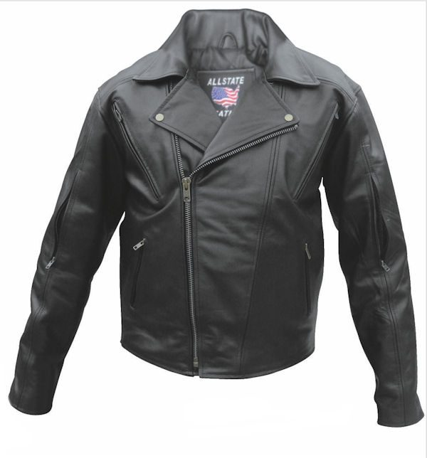 mens black buffalo hide leather jacket