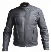 mens naked buffalo hide leather riding jacket