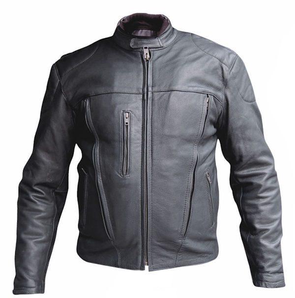 mens naked buffalo hide leather riding jacket