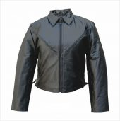ladies lambskin leather jacket with side laces