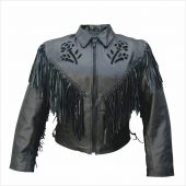 black rose leather jacket