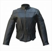 ladies buffalo vented leather jacket