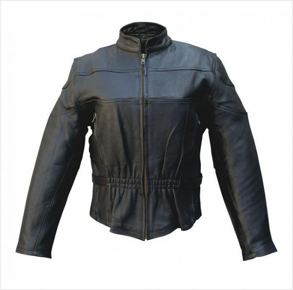 ladies buffalo vented leather jacket