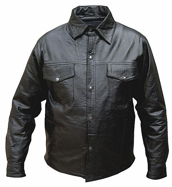 mens leather shirt