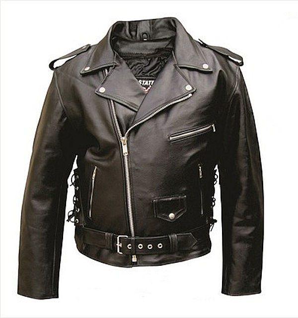 mens split cowhide leather jacket