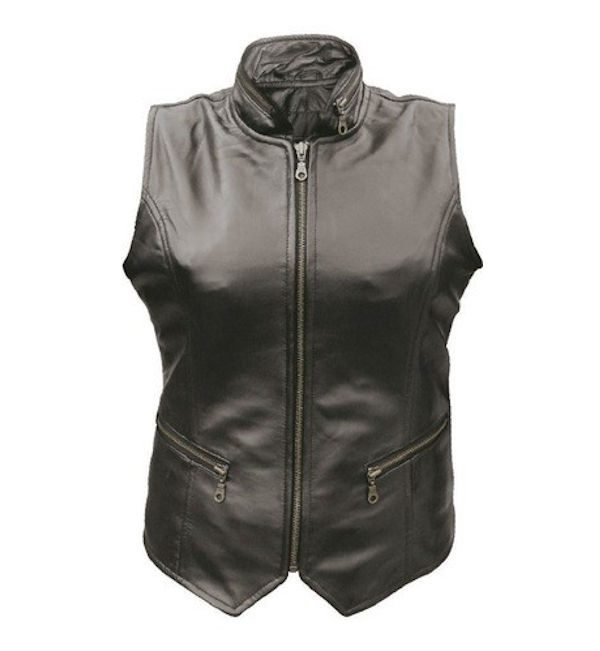 classic lambskin leather vest