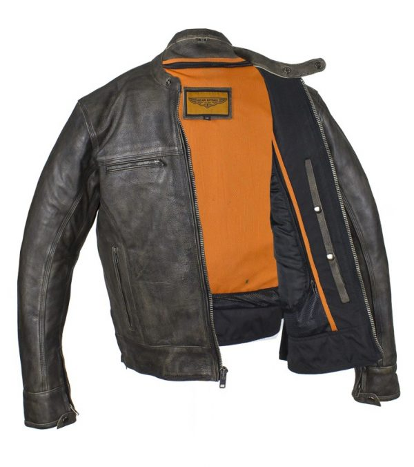 Conceal carry leather jacket