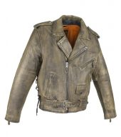 Brown motorcycle jacket