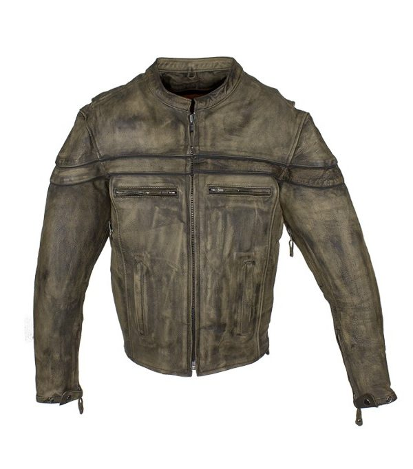 cafe leather jacket