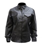 Ladies leather shirt