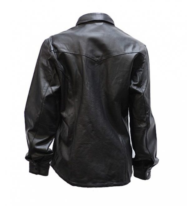 Womens leather shirt