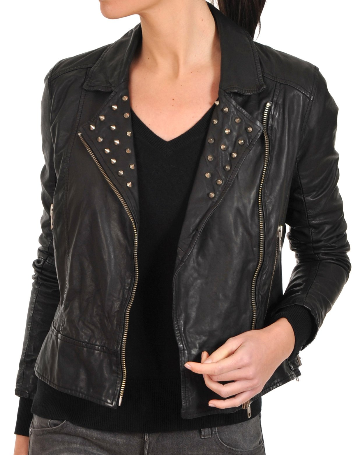 forever cropped jacket catalog stud star eu outerwear suede leather shop product moto
