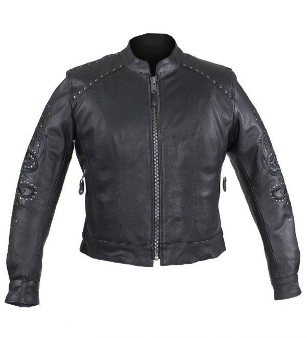 Womens fashion leather jacket