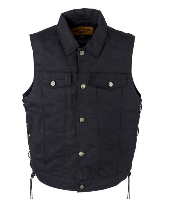 Button snap vest