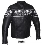 Mens racer jacket with skulls