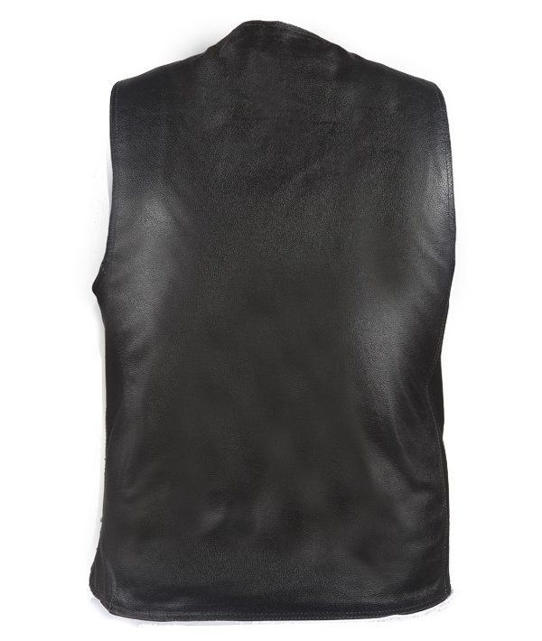 Smooth leather vest