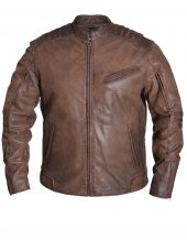 mens premium Arizona brown leather jacket