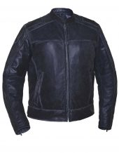 mens grey leather motorcycle jacket
