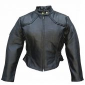 womens naked cowhide leather jacket