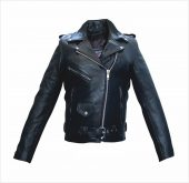 ladies full cut leather jacket