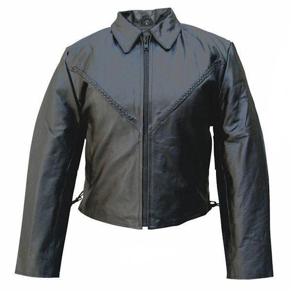 ladies cowhide leather jacket