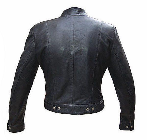 womens lambskin leather jacket back