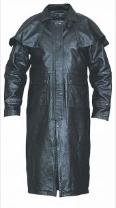 mens split cowhide leather duster