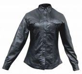 ladies western style leather shirt