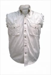 mens white cream denim shirt