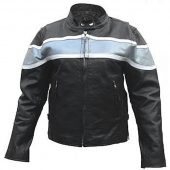 ladies two tone leather jacket
