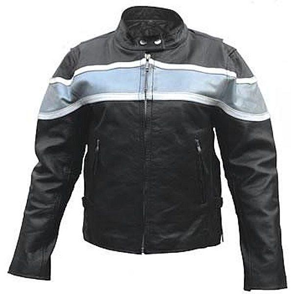 ladies two tone leather jacket
