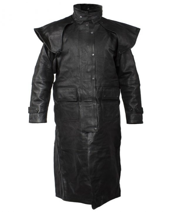 mens cowhide leather duster