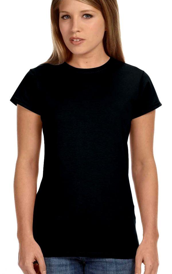 plain black crew neck tee shirt