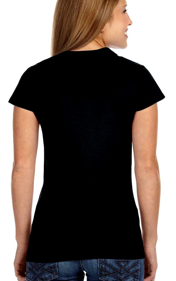 ladies black t-shirt