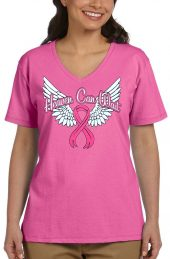ladies breast cancer awareness t-shirt