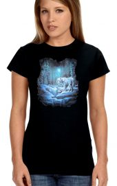 ladies tiger in the moonlight t-shirt
