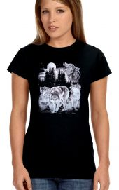 ladies howling wolves t-shirt