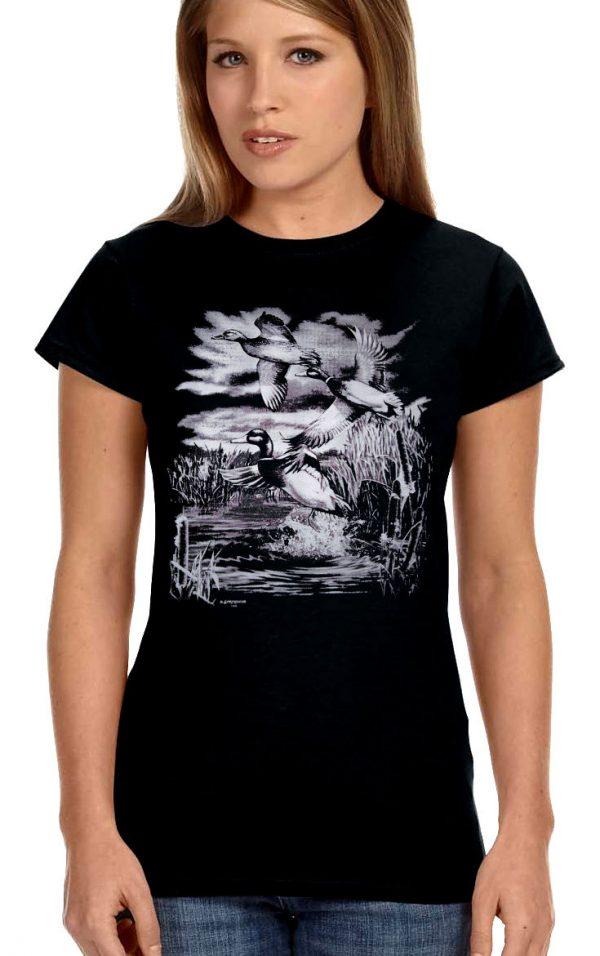 ladies mallard ducks t-shirt