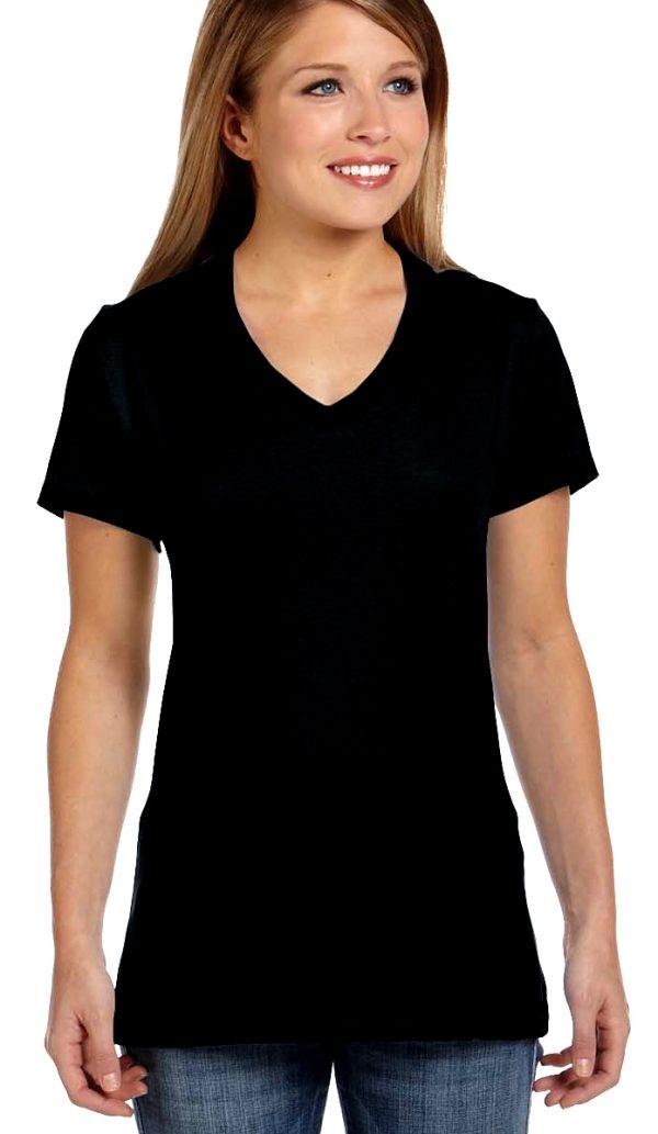 plain v-neck shirt