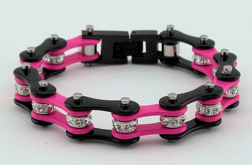 Ladies bike chain bracelet jewelry